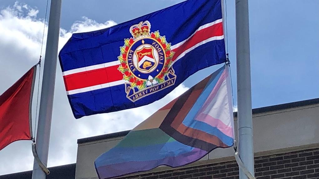 Pride flag at LPS headquarters