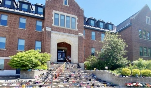 After lots of talk this summer, the search for unmarked graves is underway at the former Shingwauk Residential School site, at present-day Algoma University. (File)