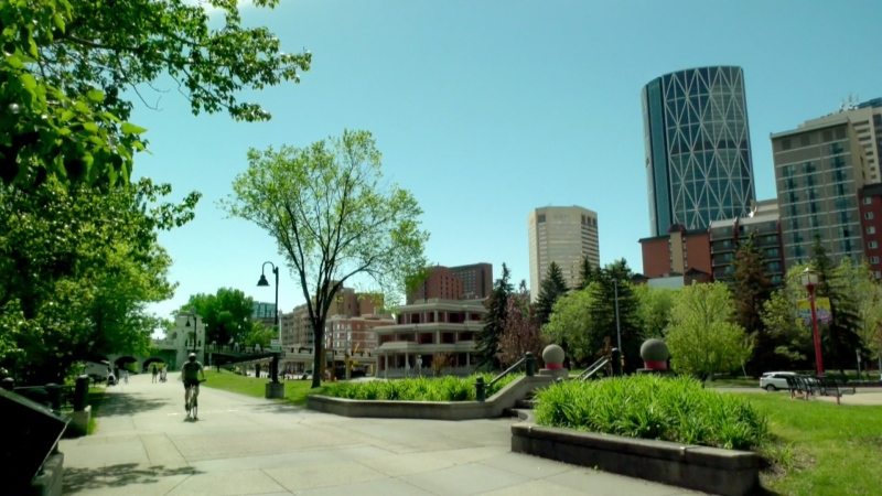 The heat wave in Calgary is forecast to continue all week.