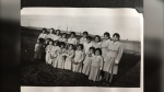 Students from the Old Sun Residential School which was located at Siksika Nation until it 1971, when it was changed to the Old Sun Community College.