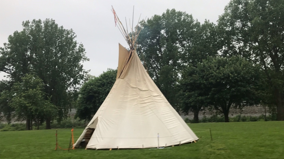 Teepee in London, Ont.