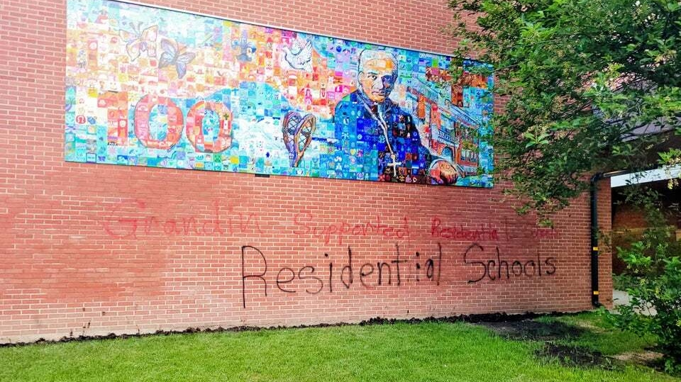 Grandin Catholic Elementary School vandalism