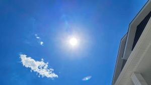 The sun is seen over Regina, Sask. on June 3, 2021. (Brendan Ellis/CTV News)