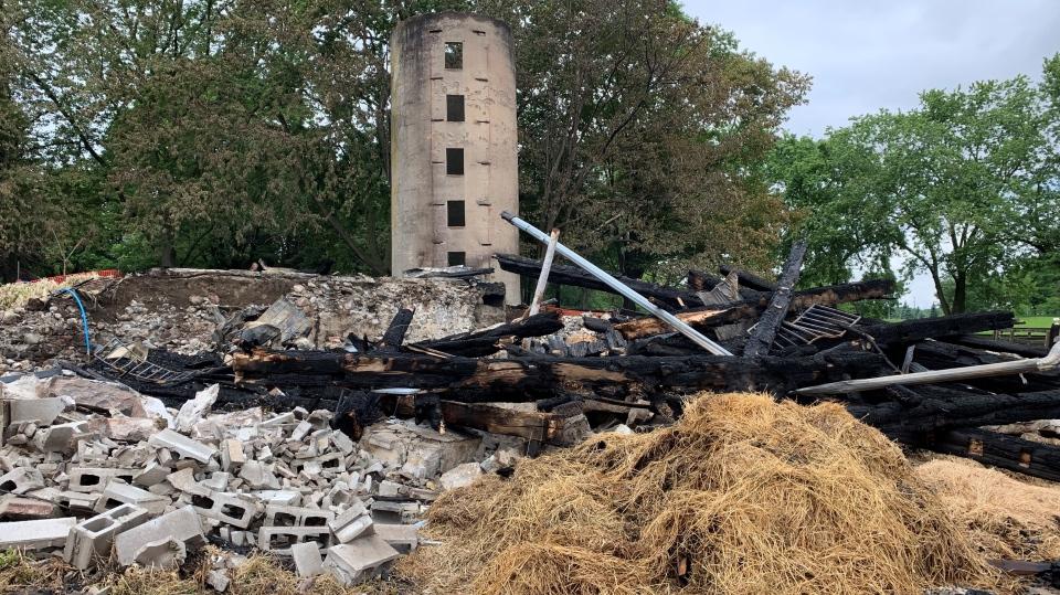 Woodstock horse barn fire damage