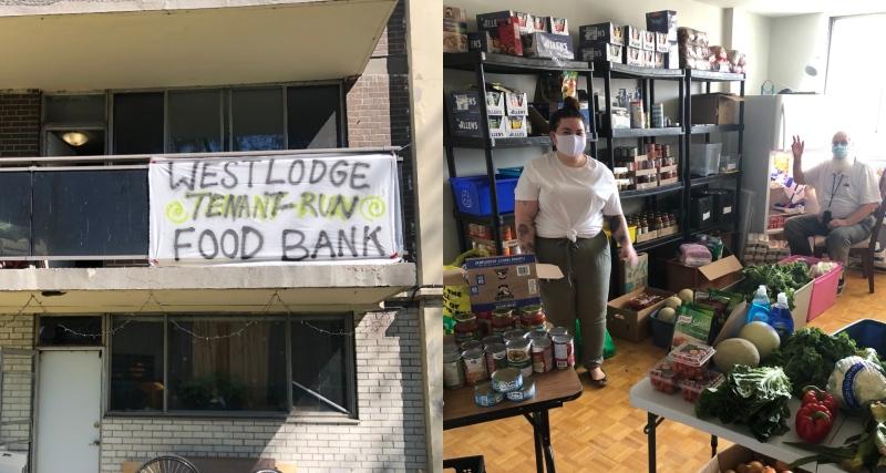 Westlodge tenant-run foodbank. (Courtesy of Paterson Hodgson)