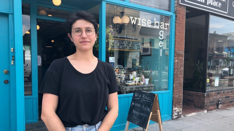 Tamara Wise, owner of Wise Bagel, is seen in this photograph. (Beth Macdonell/CTV News Toronto)