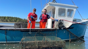 Nolan (left) and Colton D'Eon (right) are on a mission make sure D'Eon Oyster Company consumers know exactly where the food they enjoy is coming from.