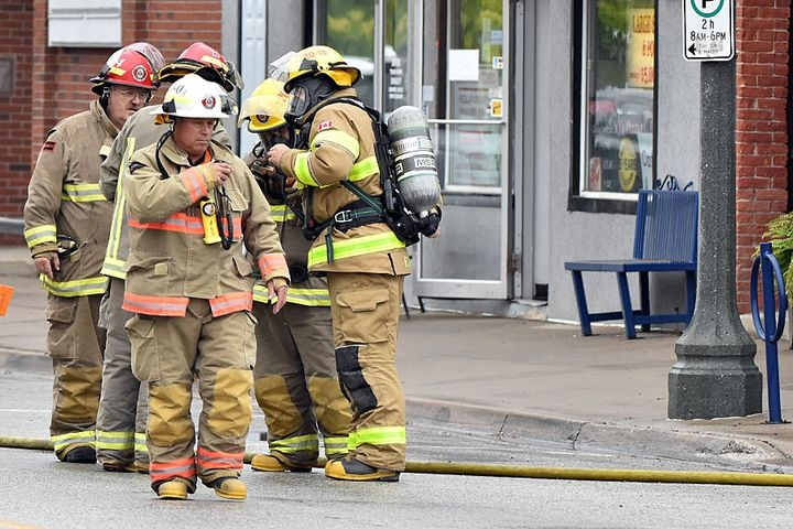 Chatham-Kent firefighters in Wheatly, Ont.