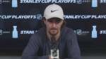 Winnipeg Jets' Mark Scheifele speaks with media on June 4, 2021.