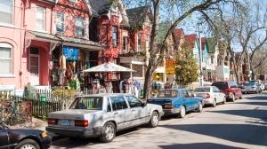 Houses and shops in Kensington in Toronto, Ontario, Canada. (Courtesy of Deymos/Dreamstime)