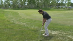 Will hits the links at a Sudbury golf course
