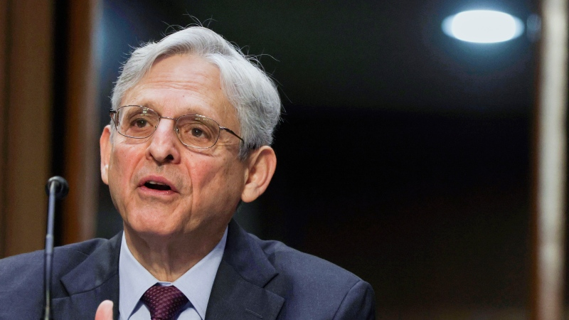 Attorney General Merrick Garland testifies before the Senate Appropriations committee hearing, Wednesday, May 12, 2021 on Capitol Hill in Washington. (Alex Wong/Pool via AP)