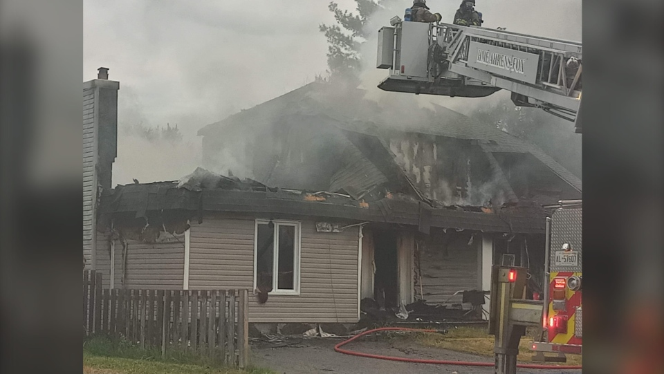 Saturday morning fire on 4th St. in West Nipissing