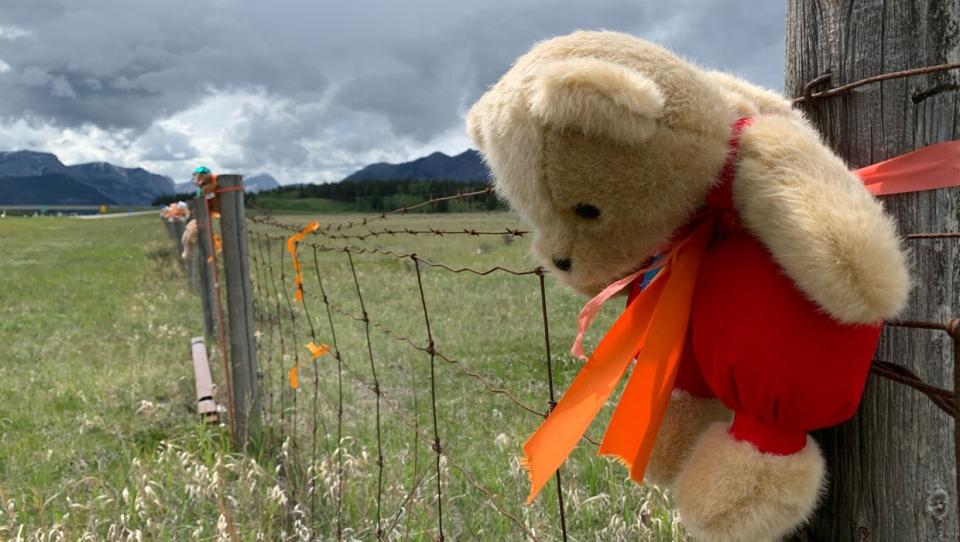calgary, teddy bears, residential schools, stoney
