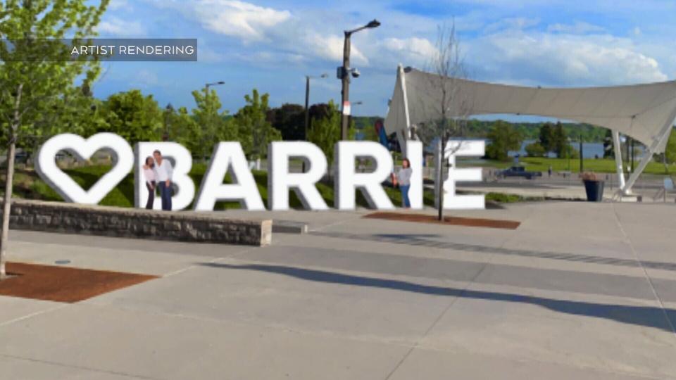 Landmark Barrie Sign