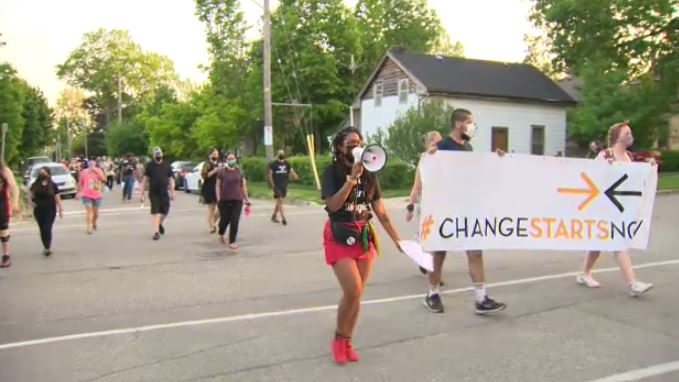 Marking one year since the Black Lives Matter marc
