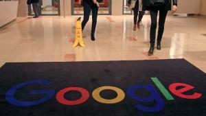 At the Google France building in Paris, France, on Nov. 18, 2019. (Michel Euler / AP)