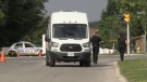 London police investigate the crash that killed four pedestrians and left one child injured on Monday, June 7, 2021. (Jim Knight / CTV London)