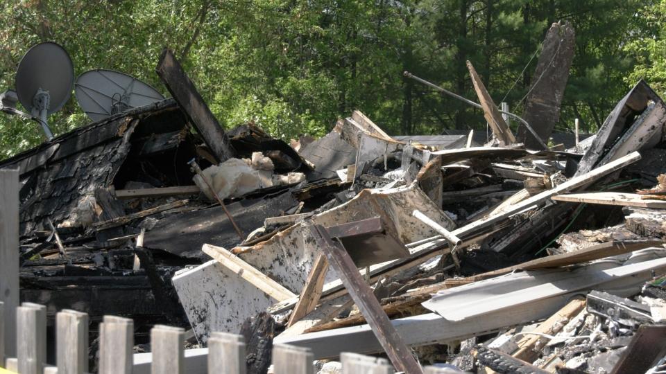 Burned out 4-plex in Sturgeon Falls, Ont.