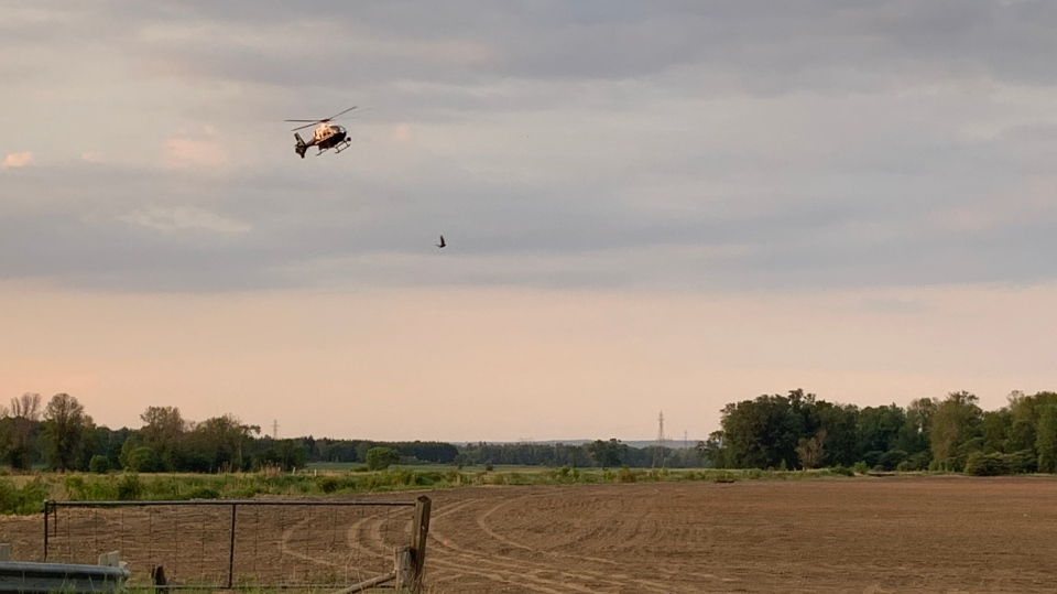 OPP helicopter rescues family