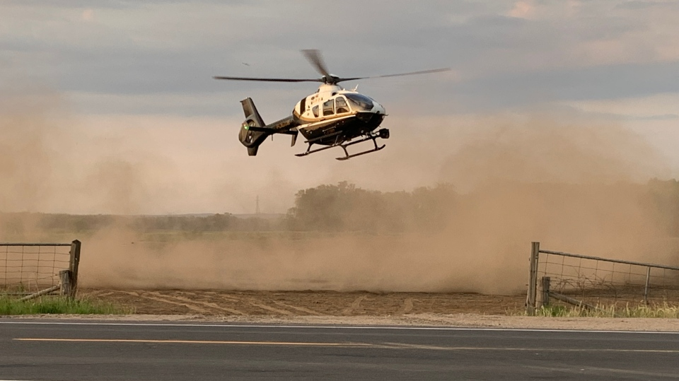 OPP helicopter rescues a family