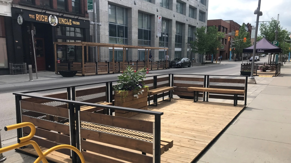 Patios in Downtown Kitchener