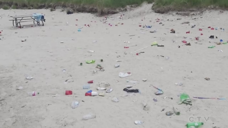 Trash littered across Simcoe County waterfronts