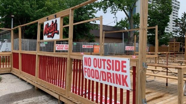 Morty's Pub patio
