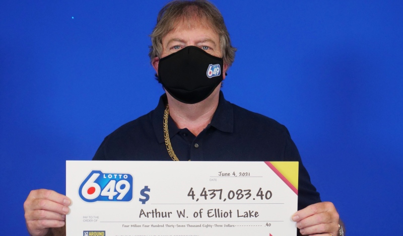 Art Walters of Elliot Lake won $4.437 million in the May 22 Lotto 6/49 draw, the Ontario Lottery Corp. said Tuesday. (Supplied)