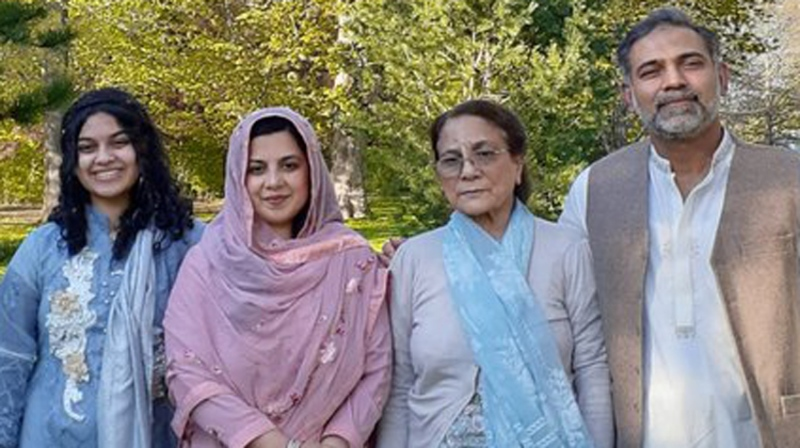 Yumna Afzaal, seen on the far left, with her parents and her grandmother. (Afzaal family)
