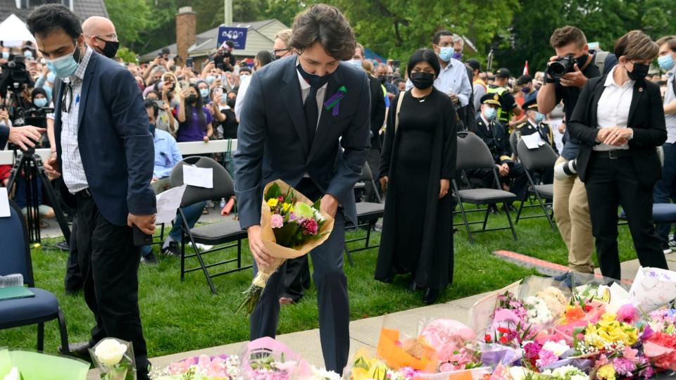 Trudeau at London vigil