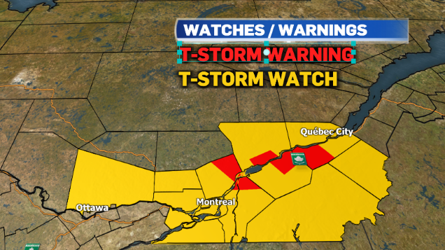 severe thunderstorm watch montreal