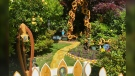 Ed Lien built a 'Wizard of Oz' tribute garden for his late wife at their North Vancouver home. (Shannon Paterson / CTV News Vancouver)