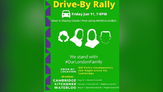 Drive-by rally hosted by MAC Kitchener
