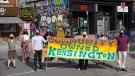 The Kensington Market Community Land Trust outside 54-56 Kensington Avenue (Courtesy of KMCLT/RYAN RUBIN)