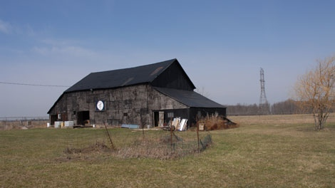 The barn owned by Wayne Kellestine, located near London, Ont. (The Fat Mexican: The Bloody Rise of the Bandidos Motorcycle Club / Random House Canada)