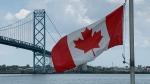 Ambassador Bridge in Windsor, Ont. on Wednesday, June 9, 2021. (Chris Campbell/CTV Windsor)