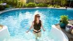 Della Vaslet-Thompson enjoying a pool she rented in Ottawa last summer. (Photo courtesy: Vaslet-Thompson)
