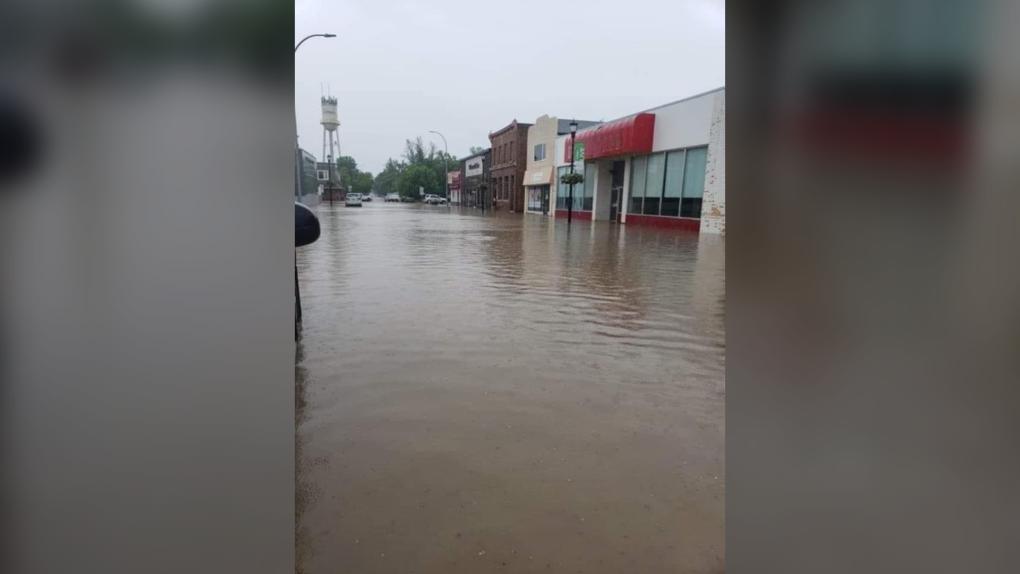 Flooding in Carman