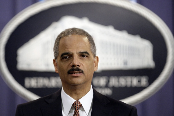 U.S. Attorney General Eric Holder speaks during a news conference at the Justice Department in Washington, Friday, Nov. 13, 2009. (AP /Alex Brandon)