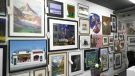 Artists from across the country donated works of art to be auctioned off to raise funds for the Whyte Museum in Banff