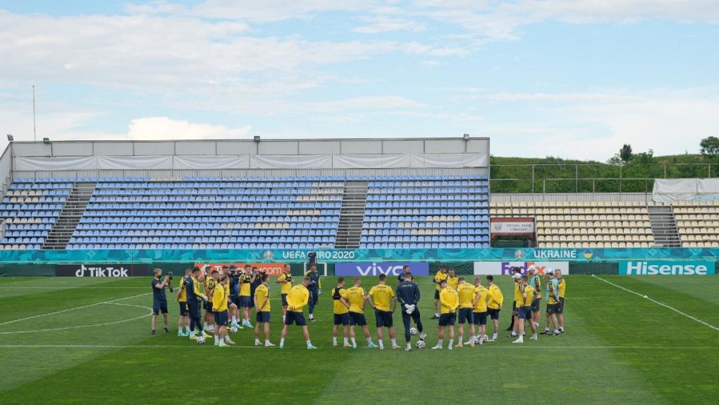Ukraine's national soccer team training session