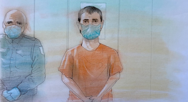 Nathaniel Veltman, 20, appeared in a London, Ont. court via video on Thursday, June 10, 2021.