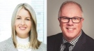 Susan Nickle, left, and Neil Johnson, both executive vice presidents at the London Health Sciences Centre, are leaving the organization. (Source: LinkedIn)