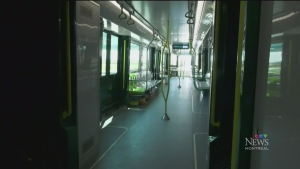 Take a sneak peek as officials conduct a test run of the future REM public transit system.
