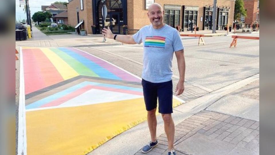 Collingwood rainbow crosswalk