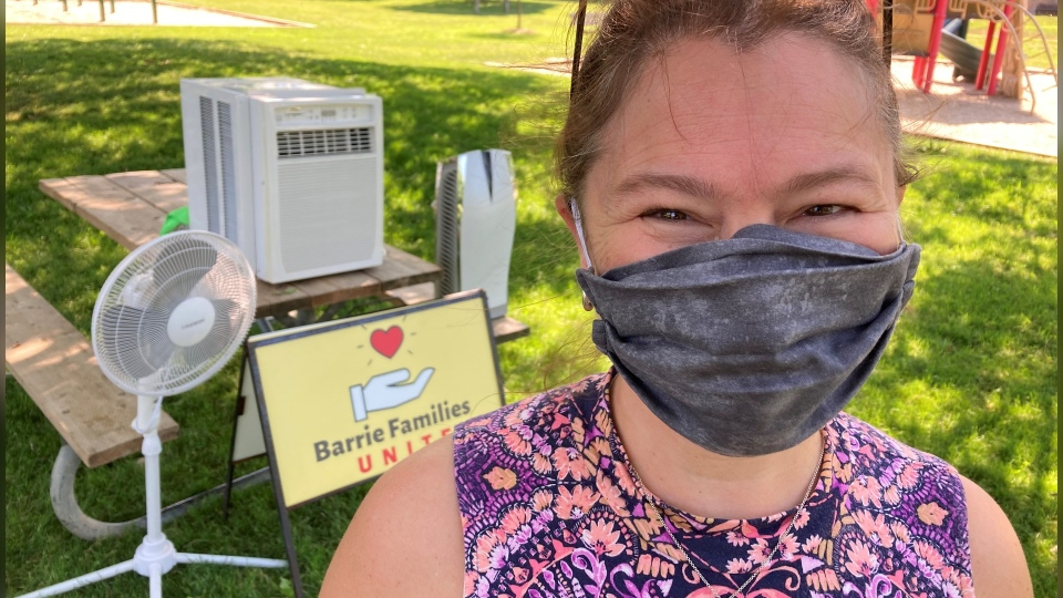 Beat the heat used air conditioner or fan campaign