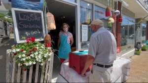 In the heart of Old Town Lunenburg, you'll find Kelly and Jason Conrad's shop filled with fresh seafood.