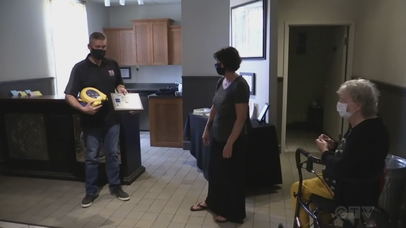 Defibrillator donation