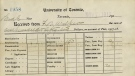 A University of Toronto tuition receipt from 1917 is seen here. (Digital Archive Ontario)